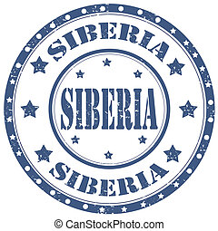 Siberia-stamp - Grunge rubber stamp with text Siberia,vector...