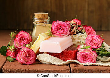 handmade soap with roses