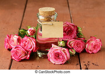 essence of rose flowers