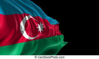 Flag of Azerbaijan - Beautiful 3d animation of the...