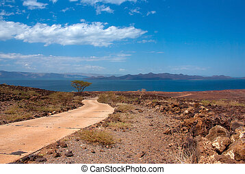 The road to Lake Turkana, Kenya