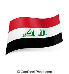 State flag of Iraq - National flag of Iraq: red, white and...
