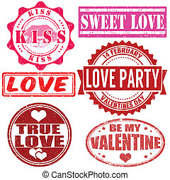 Stamps set for Valentine day