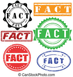 FACT stamps set - FACT vintage grunge rubber stamps set on...