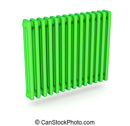 radiator - close up of a green radiator, concept of clean...