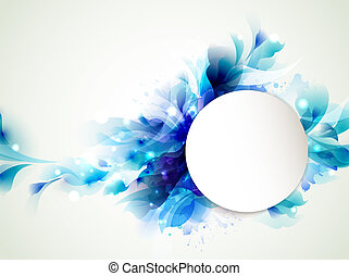 Abstract blue - Background with Abstract blue elements