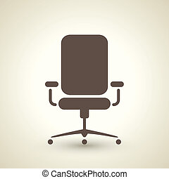 Office chair icon - retro style office chair icon isolated...