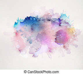 blot - watercolor stains