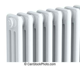 radiator - close up of white radiator (3d render)