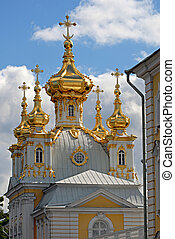 Church in Peterhof StPetersburg, Russia Peterhof Palace...