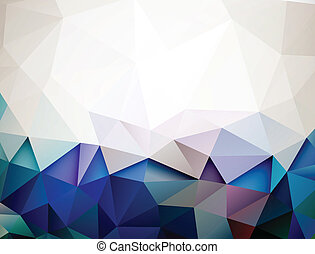 Modern background forming by triangles