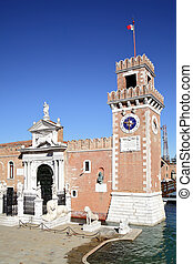 Venetian Arsenal - The Porta Magna at the Venetian Arsenal,...