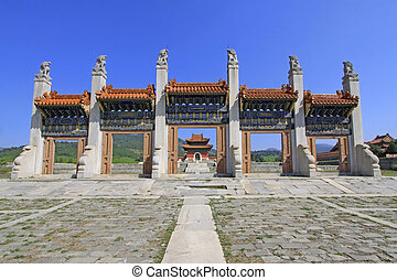 ZUNHUA - MAY 11: Exquisite stone archway in the Eastern...