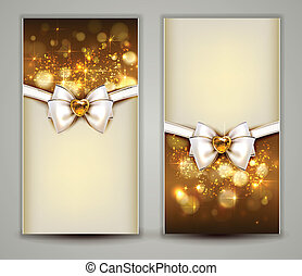 Christmas background - Two elegant Christmas greeting cards...