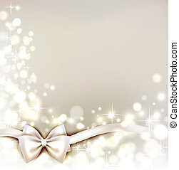 Christmas background - white Christmas background with bow...