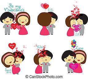 Happy Valentine's couple set