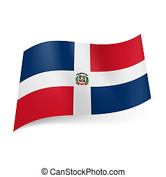 State flag of Dominican Republic - National flag of...