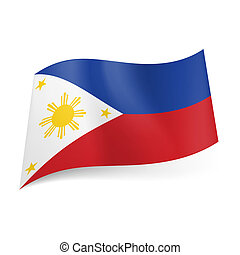 State flag of Philippines - National flag of Philippines:...