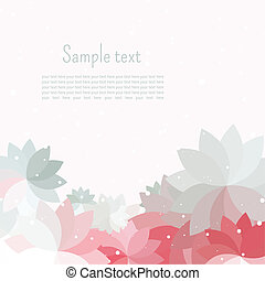 petal abstract - Postcard or a vignette for text with gray,...