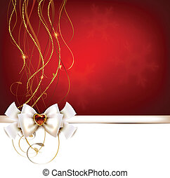 Christmas greeting card - Christmas red greeting card with...