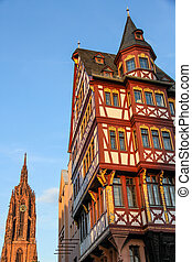 Historic center of Frankfurt am Main in Hessen, Germany with...
