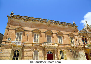 Historic Architecture in Mdina, Malta, southern Europe