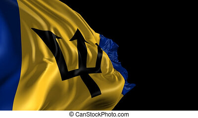 Flag of Barbados - Beautiful 3d animation of Barbados flag...
