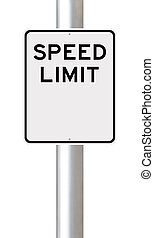 Blank Speed Limit Sign - A blank speed limit sign
