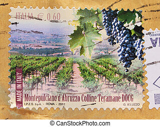 Montepulciano D'Abruzzo stamp from Italy