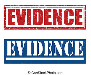 Evidence stamps - Evidence set of grunge stamps, vector...