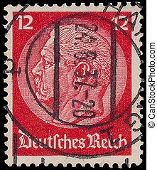 GERMANY - CIRCA 1933: A stamp printed in Germany shows...