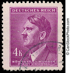 GERMANY - CIRCA 1942: A stamp printed in The Protectorate...