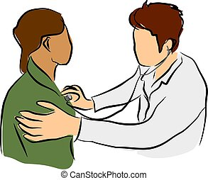 doctor with patient - doctor taking good care for patient