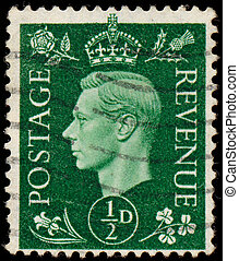 UK - CIRCA 1950: A stamp printed in UK shows image of the...