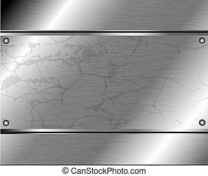 Abstract metallic background of steel plates