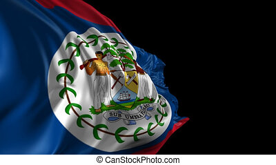 Flag of Belize - Beautiful 3d animation of the Belize flag...