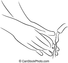 Washing hands with soap - Washing your hands is the best way...