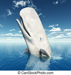 Sperm Whale - Computer generated 3D illustration with a...