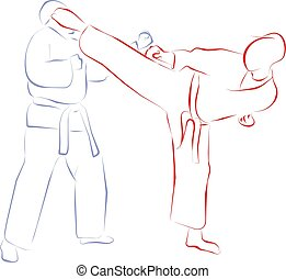 fight and kick - Taekwondo is a martial art from Korea