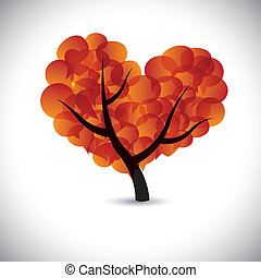 heart shaped love tree with speech bubbles icons - vector...