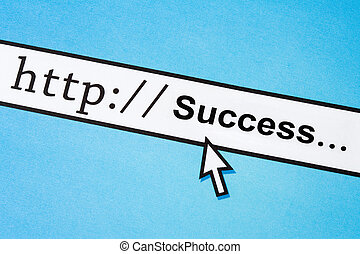 Online Business Success - Computer Screen, concept of Online...
