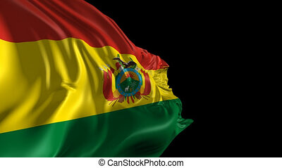 Flag of Bolivia - Beautiful 3d animation of Bolivia flag...