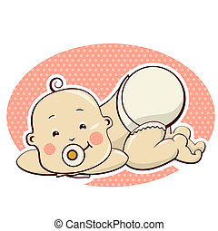 Baby child.Vector illustration isolated on white