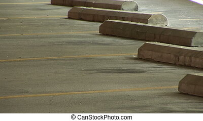Empty Parking Spaces - Vacant parking spots in a parking...