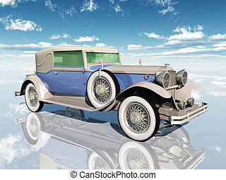 American Automobile - Computer generated 3D illustration...