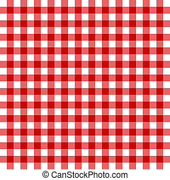 classic tablecloth - Illustration of classic red plaid...