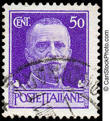 ITALY - CIRCA 1944: stamp printed by Italy, shows king...