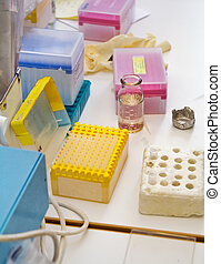 Laboratory - The table at the chemical laboratory