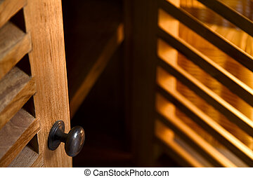 Wooden furniture - Detail of wooden furniture - doors