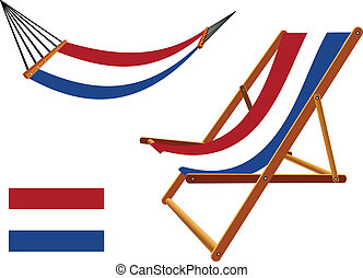 netherlands hammock and deck chair set against white...